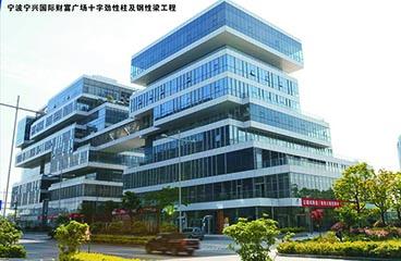 宁波宁兴国际财富广场十字劲性柱及钢性梁工程
